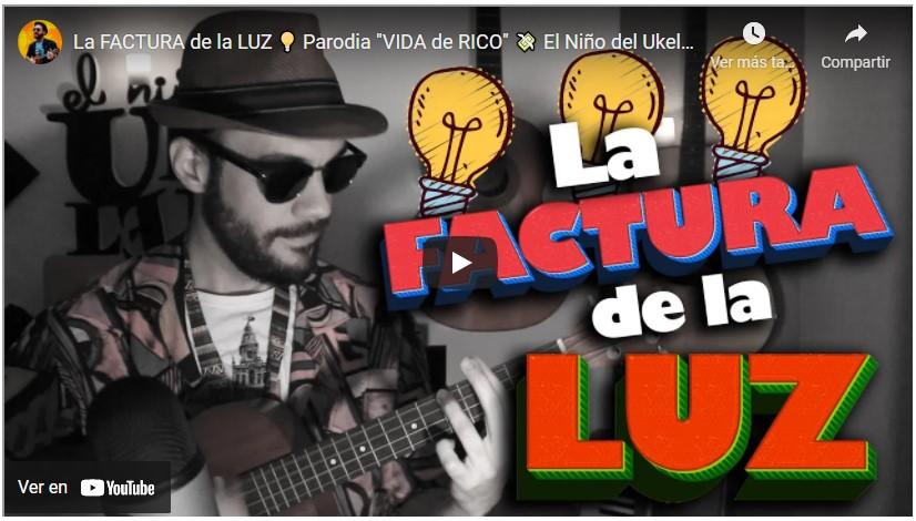La FACTURA de la LUZ 💡 Parodia «VIDA de RICO» 💸 El Niño del Ukelele