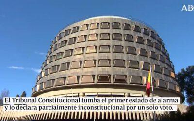El Tribunal Constitucional tumba por la mínima el primer estado de alarma de Sánchez